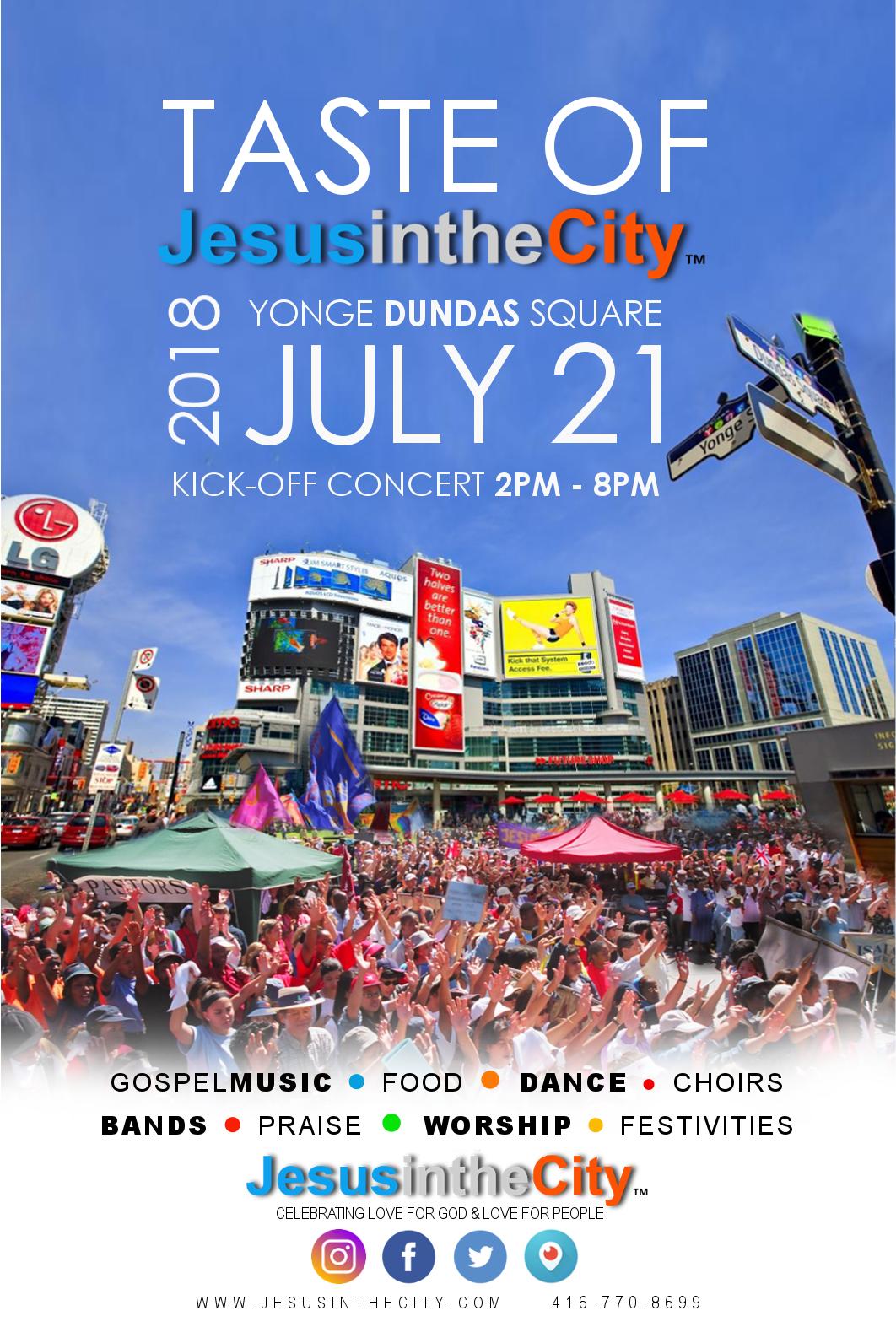 Jesus In The City Festival – July 21, 2018