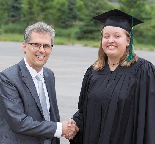 Principal William Groot and Lauren Krale of TDChristian School